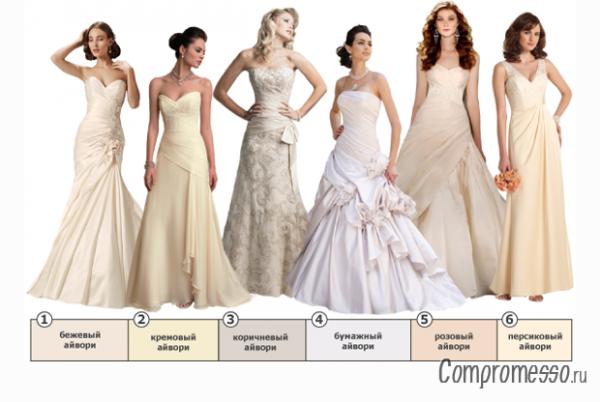 Свадебные платья фото много