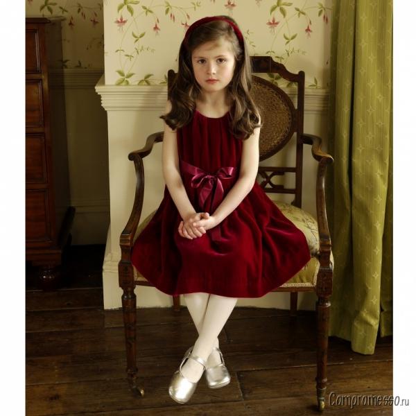 Платье Для Девочки Бархатное 4