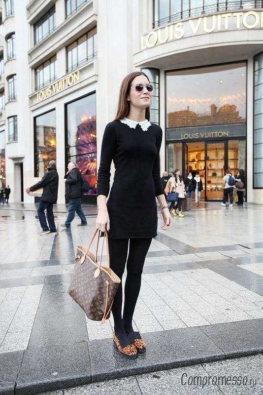 Платье черное с белым с чем носить