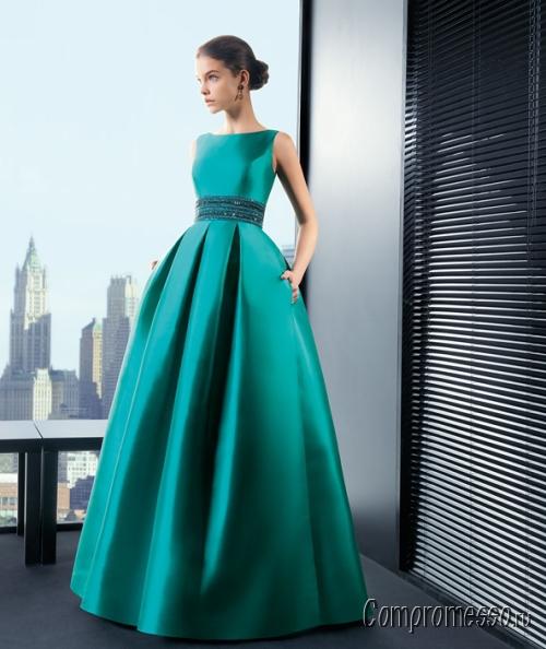 3a096a592aa Вечерние платья из атласа  выбираем фасон и аксессуары