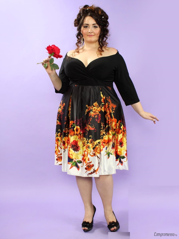 Платья из атласа для полных девушек фото
