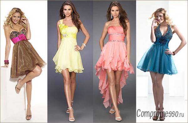Платья на выпускной на моделях