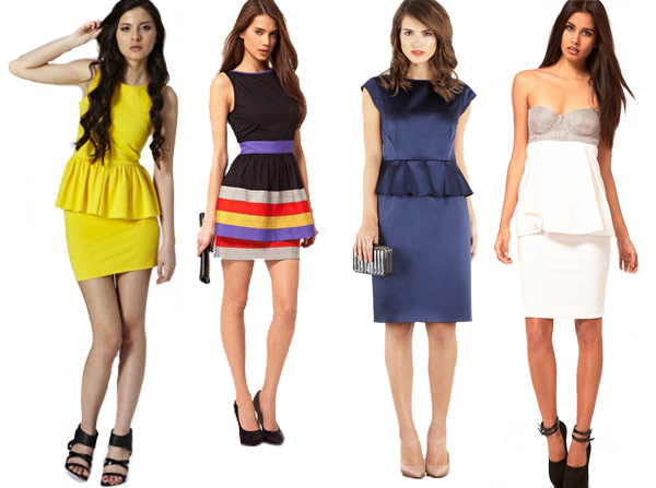 for Peplum dresses for wedding guest